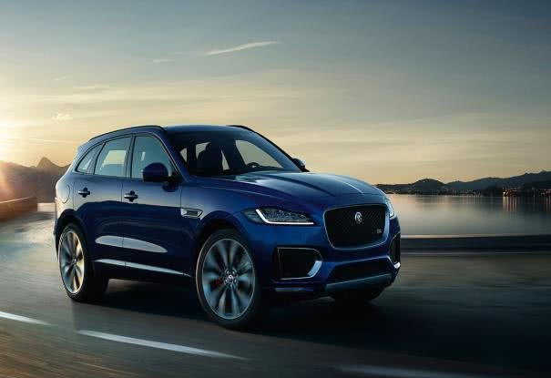Jaguar F-Pace on road