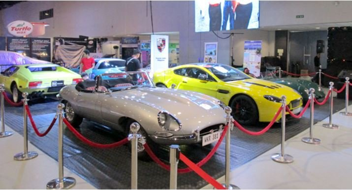 Display of cars