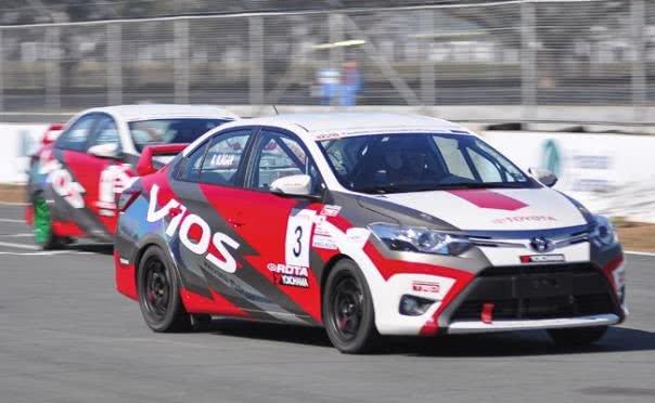 Toyota racing car angular front