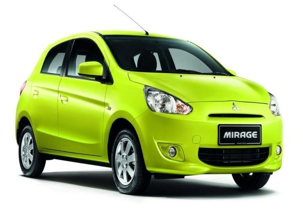 Mitsubishi Mirage angular front view