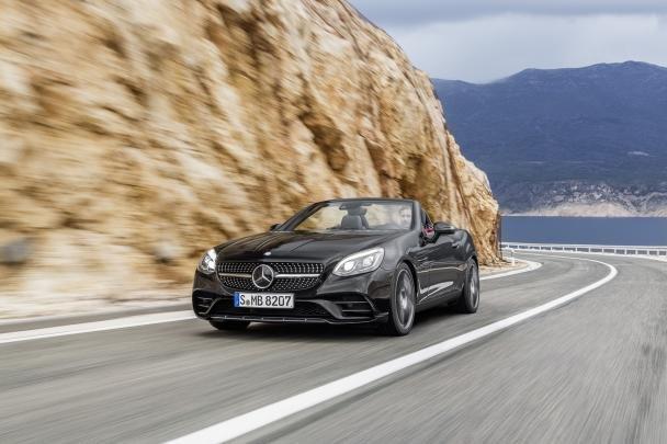 Mercedes-Benz SLC 180 on road