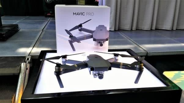 Mavic Pro is on display
