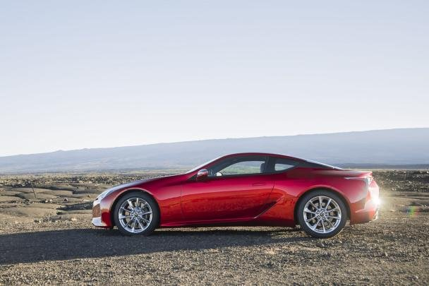 2018 Lexus LC 500 side view