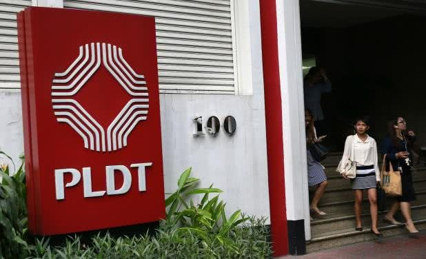 PLDT head office in Makati City, Metro Manila