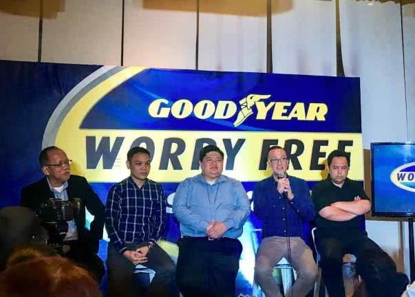 Speakers at a Goodyear conference
