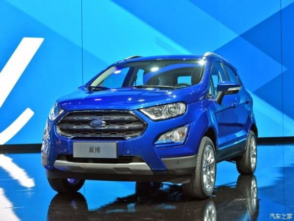 Ford EcoSport 2018 facelift angular view