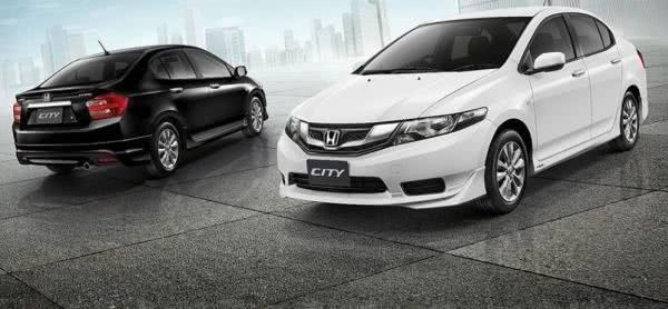 Honda City in black and white