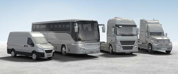 van, truck and passenger cars