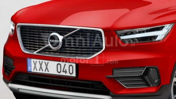 Rendering of the Volvo XC40 hood