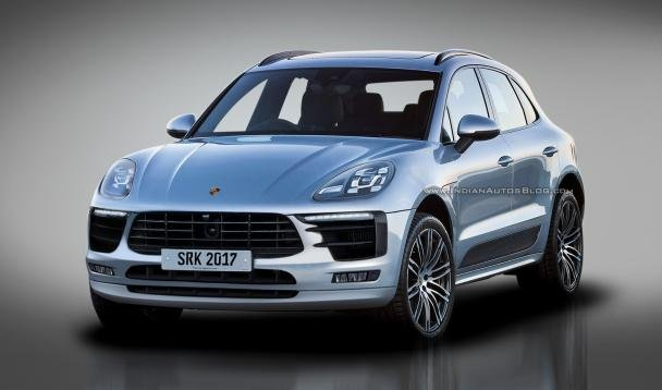 Rendering of the 2018 Porsche Macan facelift