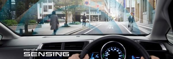 Driving with Honda Sensing suite of driver-assistive technologies