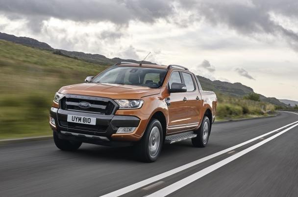 Angular front of 2019 Ford Ranger