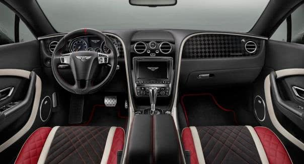 Bentley continental supersports' cabin