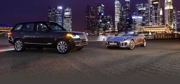 Shining beautiful cars in night