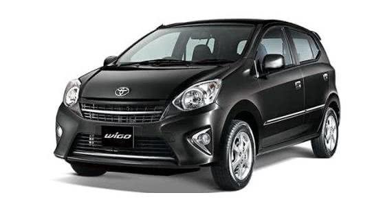 Black Toyota Wigo angular front