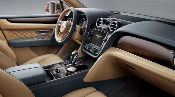 Bentley car's cabin