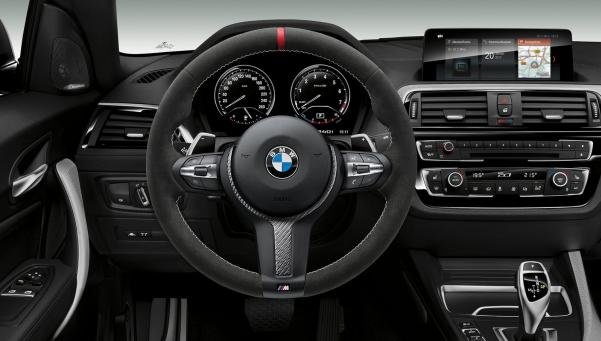 M240i M Performance Edition's steering wheel and dashboard