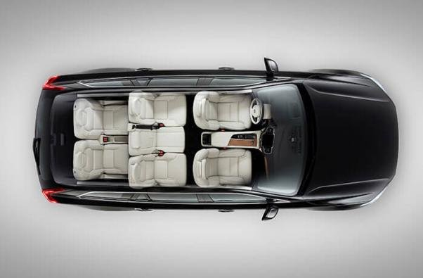 7-seater SUV view from the top