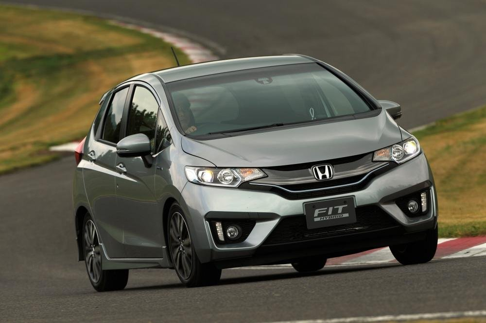 front view of Honda fit