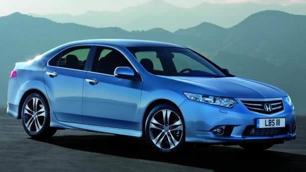Blue Honda Accord Euro angular front view