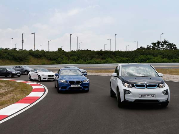BMW cars on the road