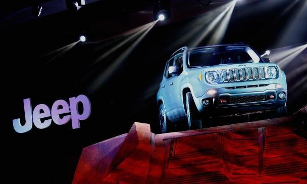 Fiat's Jeep displayed at 2015 Tokyo Motor Show.