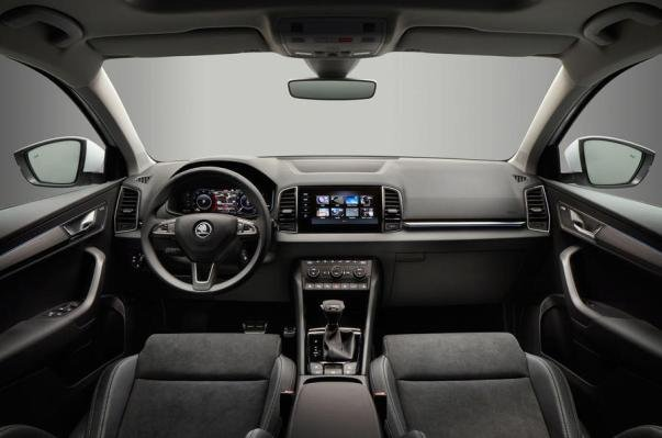 The Skoda Karoq's inside