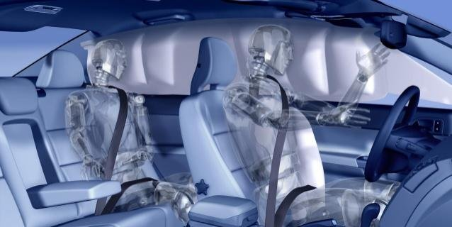 Airbags system in car