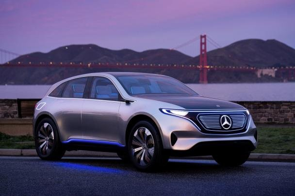 Angular front of the Mercedes EQ concept