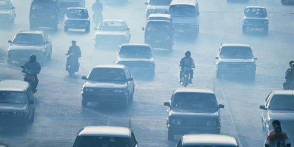 Vehicles exhaust causes air pollution