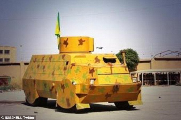 Kurdish armored vehicle front view