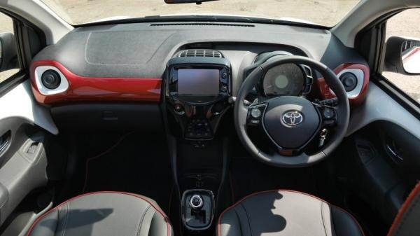 The cabin of 2017 Toyota Aygo x-claim limited edition