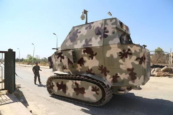 A homemade tank of the Kurds