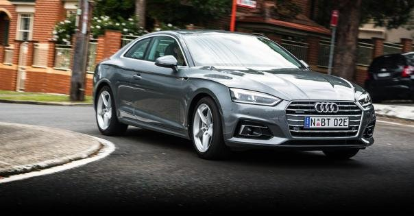 Angular front view of upcoming Audi A8