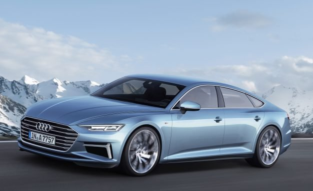 Side view of the Audi A7 Concept