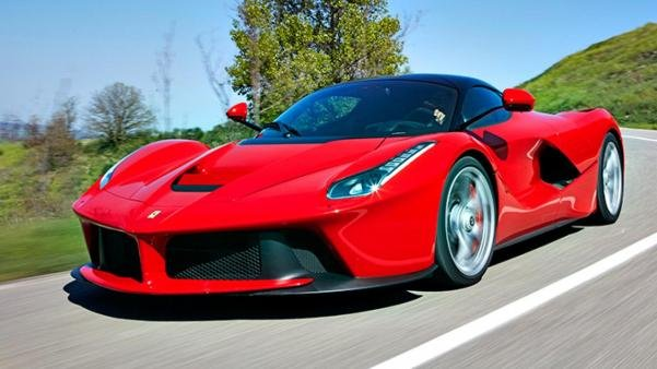 Angular front of the Ferrari LaFerrari