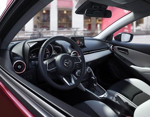 Cabin of the 2017 Mazda 2