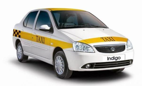 a Tata Indigo Diesel taxi