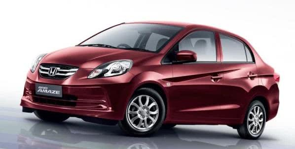 Angular front of the Honda Brio Amaze