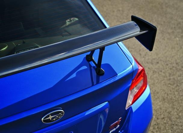the BRZ tS' manually-adjustable rear spoiler