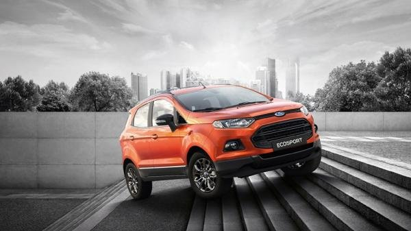 angular front of the Ford Ecosport