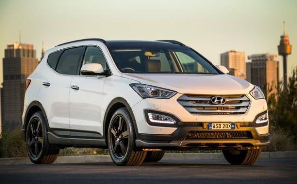 angular front of the Hyundai Santa Fe