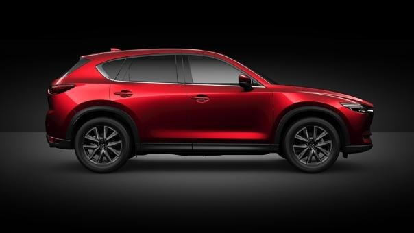 Side view of the Mazda CX-8