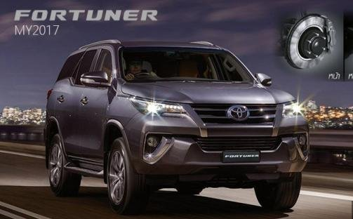 angular front of the 2017 Toyota Fortuner