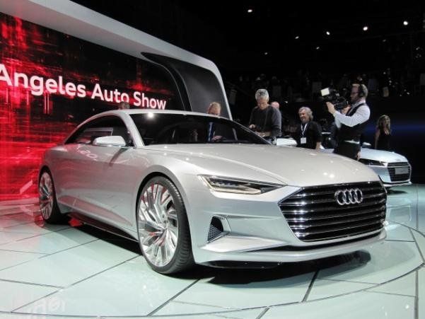 angular front of the next generation Audi A8