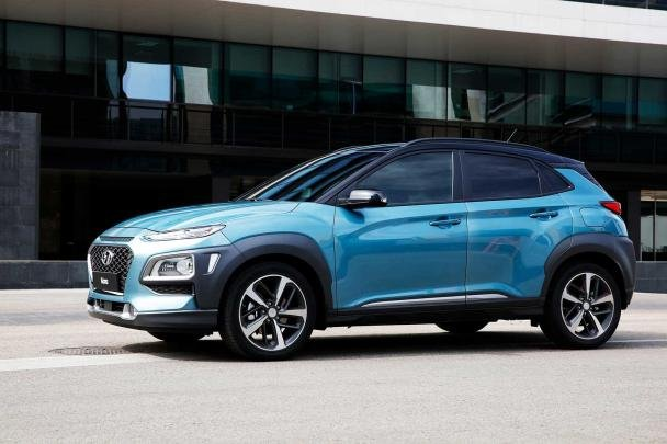 Side view of the Hyundai KONA