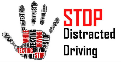 Typography poster for Stop distracted driving