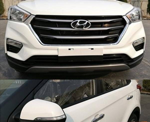 Front and side view of the 2018 Hyundai Creta