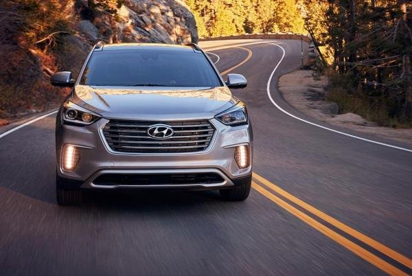 Front of the Hyundai SantaFe