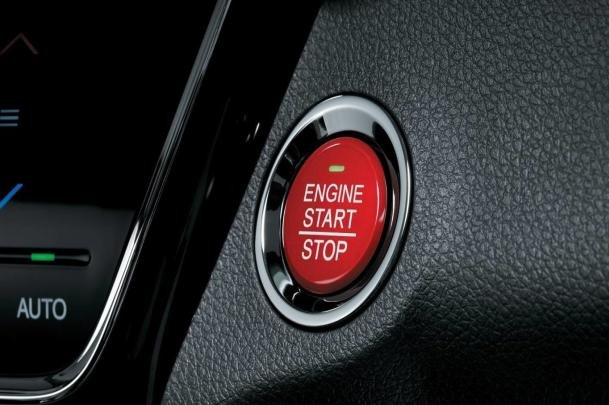 push button start of the HR-V Limited Edition 2017